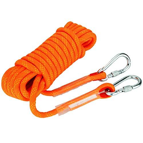DLSMB-SP veiligheidssnoer voor buiten, statisch oranje op snoer, Fire Escape veiligheid met dubbele kabel 10 mm / 12 mm / 14 mm