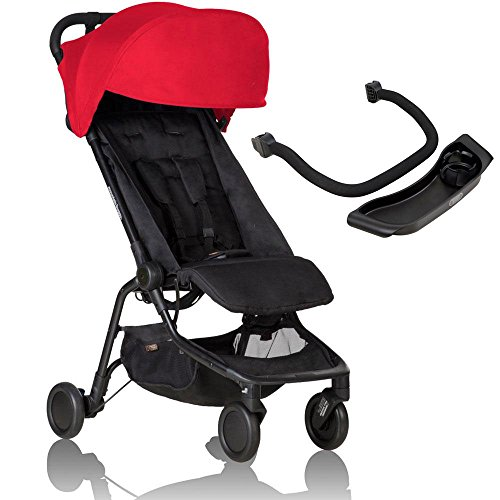 Great Features Of Mountain Buggy Nano 2 Stroller - Ruby with Nano Grab Bar and Food Tray