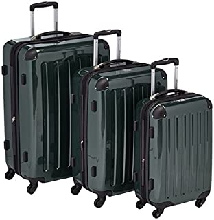HAUPTSTADTKOFFER - Alex- Set of 3 Hard-side Luggages Trolley Suitces Expandable, (S, M & L), dark green (B005GUFLBW)   Amazon price tracker / tracking, Amazon price history charts, Amazon price watches, Amazon price drop alerts