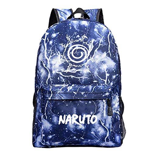 Mochilas para niños Naruto Mochilas Escolares para Adolescentes Mochila de Viaje de Cielo Estrellado de Dibujos Animados de Anime Mochila Informal
