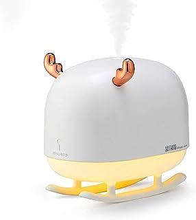 BHUATO Cute Deer Portable Air Humidifiers USB Whisper Adjustable Mist Mode Waterless Auto Shut-Off Quiet Small 260ml Deskt...