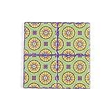 Tovagliette,Sottobicchiere in ceramica con motivo a mandala, cuscinetto isolante termico in sughero a croce quadrata 4 pezzi-colore 11