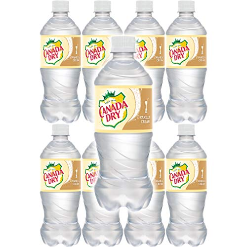 Canada Dry Vanilla Cream Soda, 20oz Can (Pack of 8, Total of 160 Oz)