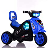 FEE-ZC La sécurité des Enfants Monte sur la Moto, Batterie Tricycle électrique de Moto 6V, 3 km/h, vélo de Moteur électrique pour Les Enfants 2-6 Ans, phares et Musique