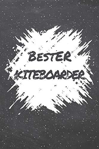 Bester Kiteboarder: Kiteboarder Punktraster Notizbuch, Notizheft oder Schreibheft | 110  Seiten | Büro Equipment & Zubehör | Lustiges Geschenk zu Weihnachten oder Geburtstag