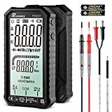 Digital Multimeter TRMS 6000 Counts with DC AC Voltmeter, Auto Ranging Tester, Ohmmeter Voltage Current Amp Meter, Resistance Diodes Continuity Duty-Cycle Capacitor Testers, Electrical Volt Meters