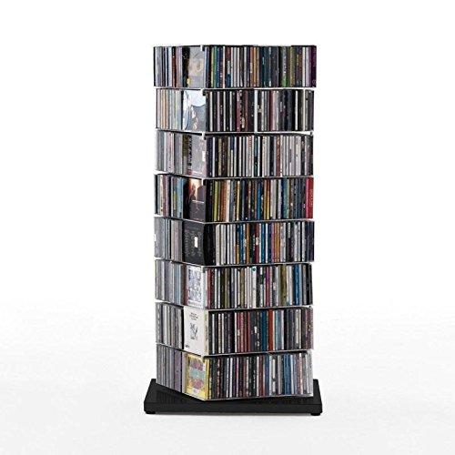 Opinion Ciatti Ptolomeo X4 A Bücherregal, schwarz Fuß Edelstahl poliert Größe 1 H110cm, 8 Regalböden