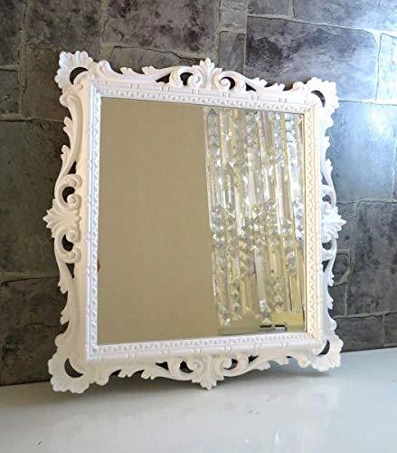 Artissimo Specchio da Parete Bianco Barocco Specchio da Bagno Antico Specchio da Bagno C533 38 X 36