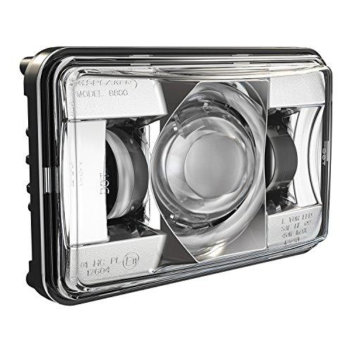 """J.W. Speaker 551381- Model 8800 Evo2 12-24V DC High Beam LED Headlight DOT/ECE with Chrome Bezel and 4"""" x 6"""" Non-Heated Lens"""