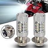 80W Super White LED Headlights Bulbs Upgrade - ATVS YFM350 400 450 660 700 Raptor Blaster 200 Banshee 350