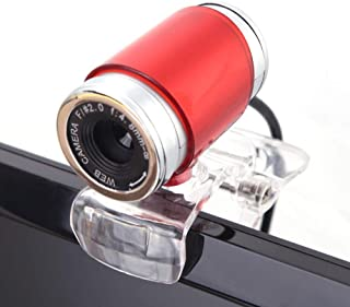 Anonyme Webams HD Computer Camera with Absorption Microphone for Android TV Web Cam red