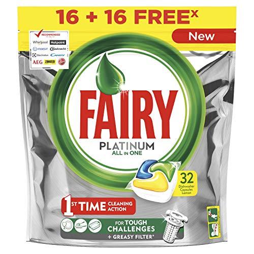 Fairy Platinum Limón Cápsulas de Lavavajillas