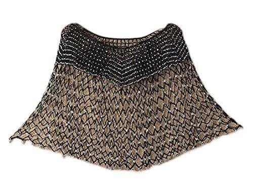 Poncho Donna Elegante Vintage Crochet Fiori Hollow Sottile Mantello Estate Moda Casual...