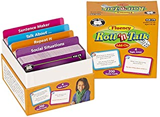 Super Duper Publications Fluency Roll `n Talk Open-Ended Dice Game Add-On Card Set - Educational Learning Resource for Children