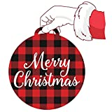 DZCGTP Letrero Colgante de Madera Bienvenido Sweet Home Letrero Impreso con Girasol Buffalo Plaid Colgante de Madera Artesanía Árbol de Navidad Adorno Redondo de Madera f