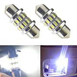 Nuokexin 2PCS C5W 3014 24 SMD 24LED Interior Lights 31mm Festoon Dome Lamps for Reading Light Bulbs (White)