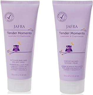 Jafra Tender Moments Hair & Body Wash & Baby Massage Cream 2 Piece Set (Lavender & Chamomile Scent)