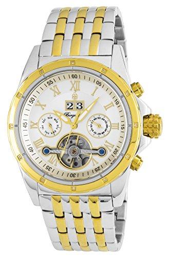 Burgmeister Armbanduhr für Herren mit Analog Anzeige, Automatik-Uhr mit Edelstahl Armband - Wasserdichte Herrenuhr mit zeitlosem, schickem Design - klassische Uhr für Männer - BM127-117 Royal Diamond