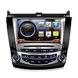 Koolertron for 7th 2003-2007 Honda Accord Dual Zone 8 Inch Digital HD Touchscreen Car DVD GPS Honda Accord Radio (Dual Zone)