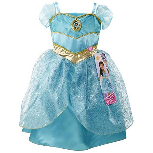"""Disney Princess Jasmine Dress Costume, Sing & Shimmer Musical Sparkling Dress, Sing-A-Long to """"A Whole New World"""" Perfect for Party, Halloween Or Pretend Play Dress Up [Amazon Exclusive]"""