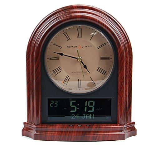 AlFajr Automatic Azan Clock Islamic Muslim Nimaz Prayer Desk Wall Reminder (CA-21)