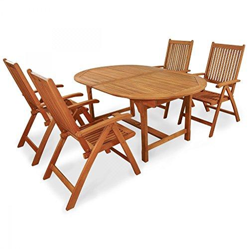 Indoba Muebles de Jardín Set, 5Piezas Bali–Jardín Set–Serie Bali, marrón, 220x 100x 74cm, Ind de 70068–base5