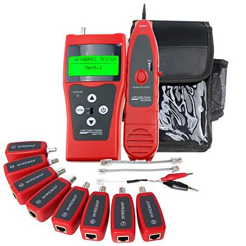 Probador Digital Red Ethernet Comprobador De Cables De Red Patch Cable Tester RJ45 RJ11 5E 6E STP UTP