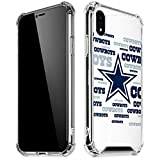 Skinit Clear Phone Case Compatible with iPhone XR - Officially Licensed NFL Dallas Cowboys Blue Blast Design