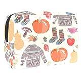 Bolsas Mujer Viaje Cosmeticos Neceseres Toiletry Bag Seta de Calabaza Shiitake Portátil y Impermeable Material de PVC 7.3x3x5.1 Inch