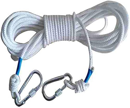 LIZIPYS Cordes Corde d 'Escalade Corde de cable Corde auxiliaire de sécurité 8mm Longueur 10M   15M   20M   25M   30M   40M   50M   60M   70M   80M   90M   100M Camping Escalade Alpinisme Route Plong