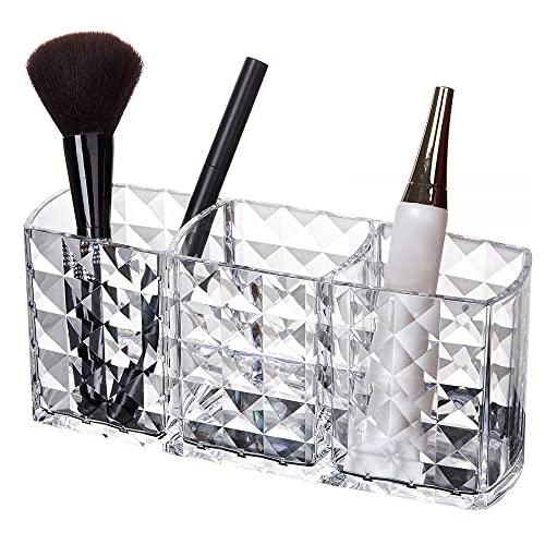 N\C 3 celosías cosmético maquillaje cepillo caja de almacenamiento maquillaje esmalte de uñas cosmético titular de herramientas de maquillaje titular de la pluma organizador aparador decoración