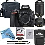 Nikon D5600 DSLR Camera Retail Packaging Bundle (18-55mm + 70-300mm)