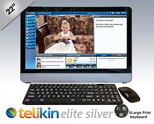 Telikin Elite II - 22' Touchscreen Computer - Black