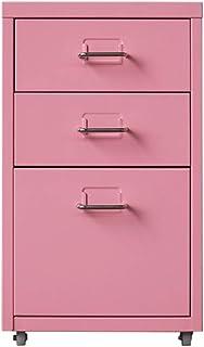 Classeur en Acier de Stockage de données de ménage Lostgaming (Color : Pink, Size : 0.6mm)