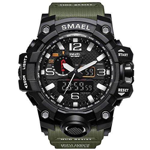 Relógio de pulso tipo Militar pulseira verde.lindo demais.!!!