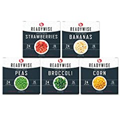 100% REAL FRUIT & VEGETABLES: Freeze-dried to lock in more nutrients and antioxidants VARIETY PACK: One box of strawberries, one box of bananas, one box of broccoli, one box of peas, and one box of corn (120 total servings) EXTENDED SHELF LIFE: Fruit...