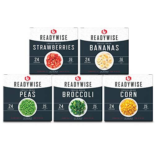 ReadyWise Freeze-Dried Fruit & Vegetable Box Kit | Emergency Food | 120 Servings
