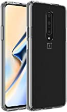 FINON Clear Perfect Body Model [ TPU Bumpers/PC ] for OnePlus 7 Pro (2019) Case with Hybrid Protective Clear and Impact Resistance - Clear