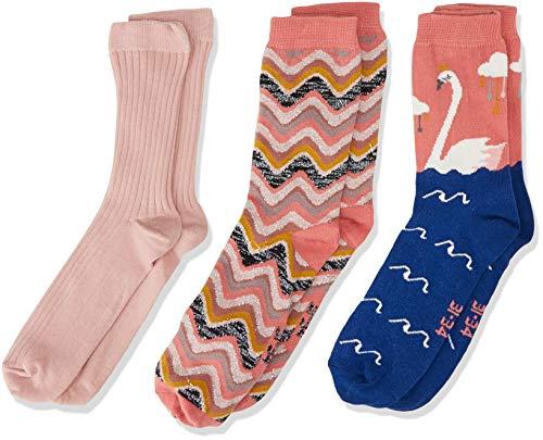 Melton Mädchen 3Er Pack Söckchen Lurex Socken, Mehrfarbig (Baby Girl 087), 27-30
