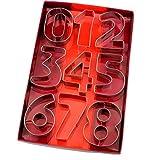 Zonster 9pcs / Set Large Size Anzahl Form Ausstechform Edelstahl-Pl?tzchen-Form-Fondant-Kuchen, die Werkzeuge