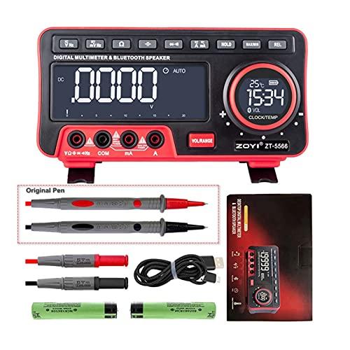 Probador de Voltaje Multímetro ZT-5566 Pantalla Dual EBTN 19999 Mostrar multimétrico + Altavoz inalámbrico Voltaje Corriente Cap HZ Tester Probador multimétrico (Color : ZT5566 Original Pen)