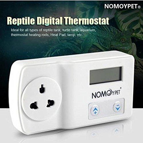 Bazaar NOMOY 220-240V Reptile digitale thermostaat hitte-deklaag mat lamp terrarium temperatuurregelaar