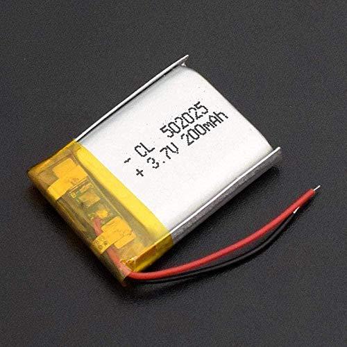 Batería Recargable 3 7V 200mAh 502025 Li-Polymer para Smart Watch PSP Lights LED Bluetooth Mini Cámaras-1 Parte.-1 Pieza.