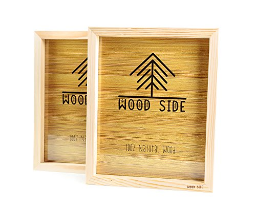 Wooden Picture Frames 4x6 Inch - with Real Glass - Set of 2 - Eco Unfinished Wood - Thick Borders - Natural Wood Color for Table Top Display and Wall Mounting Photo Frame