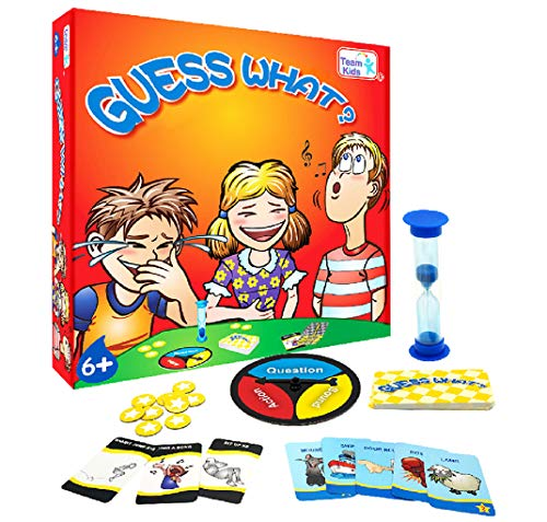 Minidiva Board Game Guess What for Kids, Minidiva Quick Question Card Game Identity Strategy Family Game with Turntable and Timer, for Children Age 6 Years Up, 2-6 Players