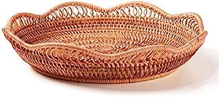 Handmade Wicker Woven Bread Storage Basket Restaurant Fruit Vegetables Food Serving Display Basket