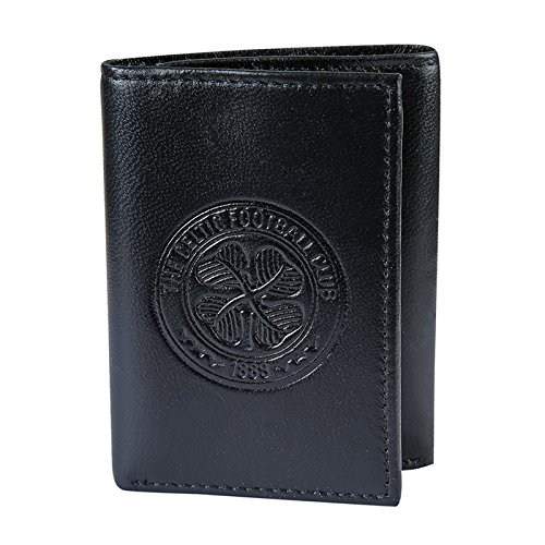Celtic FC Official Soccer Gift Embossed Crest Leather Money Wallet