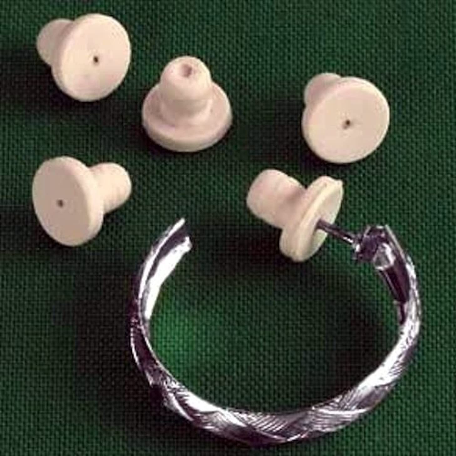 Cushioned Silicone Earring Backs - Set of 6