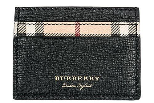 Burberry porta carte di credito portafoglio uomo pelle Sandon nero