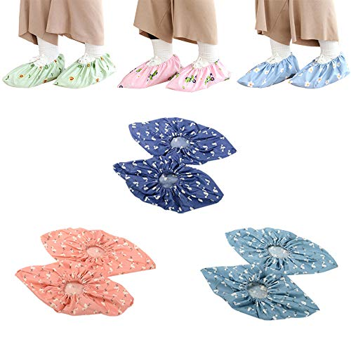 6 Pairs booties shoe covers for indoors household washable reusable safety non slip ultraelastic for men women kid insulated disposable waterproof protectors boot and shoe covers